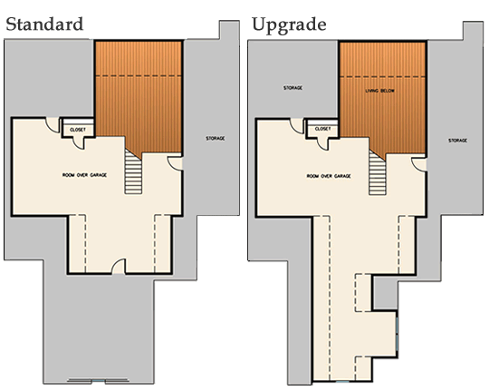 luxury home #4 2nd level floor plan